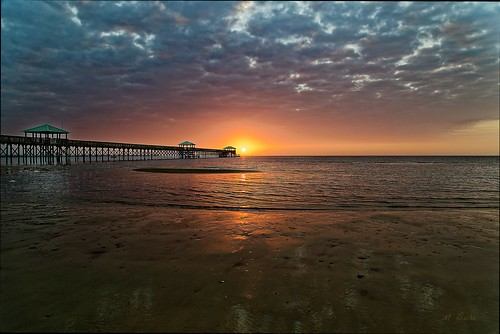mississippi sun sunrise water beach clouds sand gulf mexico dock bay st louis