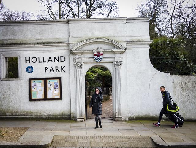 Holland Park Sun Trap Entrance