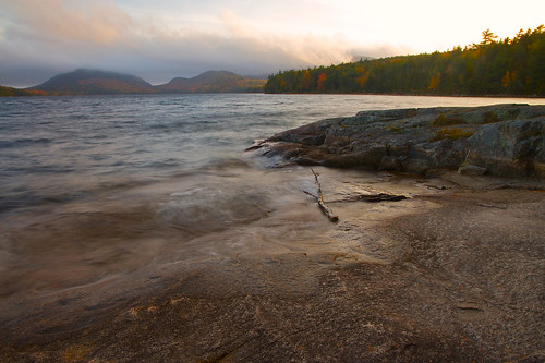 autumn sunset lake motion blur mountains clouds landscape colorful waves hills shore bubble glowing acadia slowshutterspeed eaglelake