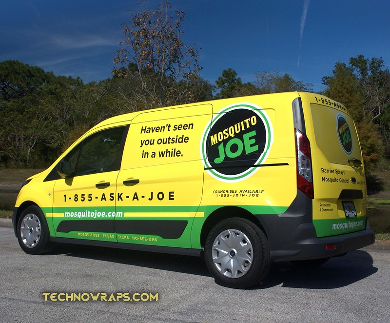 Mosquito Joe's Ford Transit Connect vehicle wraps TechnoSigns