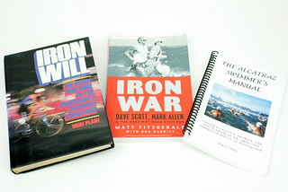 Sun, 01/18/2015 - 19:07 - A sampling of triathlon-related texts that moved well beyond the scope of training principles were texts from Plant (1987) that pushed the lore of the IRONMAN (R) Triathlon, Fitzgerald's (2011) very-readable tale of the 1989 Ironwar, and Oaks' (2001) wonderful little manual on how to swim (and know) the oft trecherous swim from Alcatraz Island. Plant's book in particular, continues to be one of the best written titles in the sport.