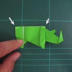การพับกระดาษเป็นรูปแรด (Origami Rhino) 030