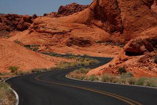 Winding Rd Valley of Fire Las Vegas 2014