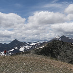 Ashley approaching East Flattop Mountain