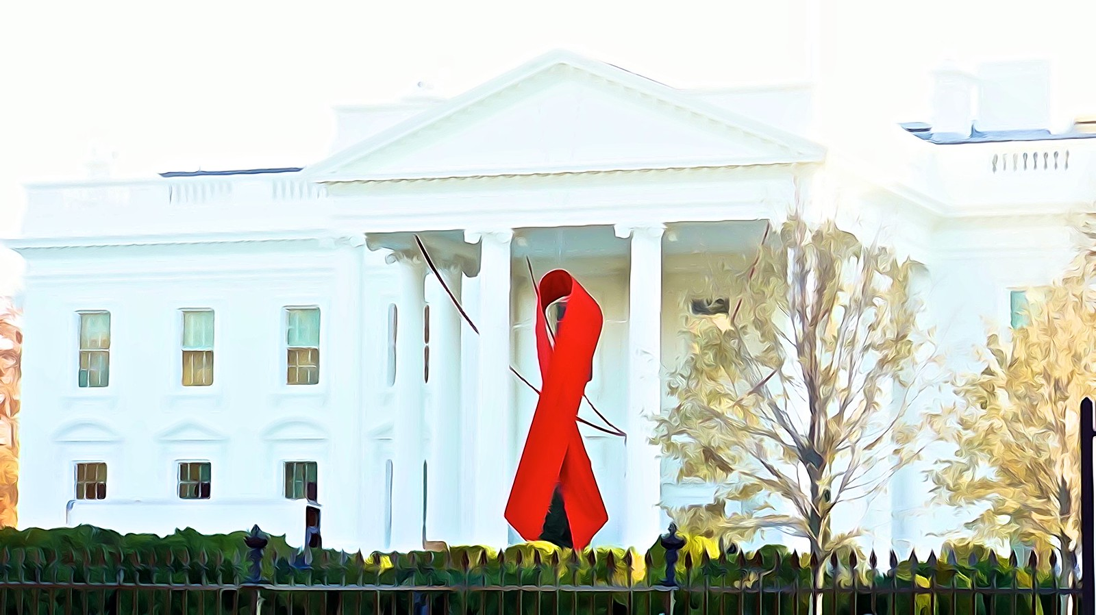 Commemorative Red Ribbon White House 2014 World AIDS Day 50185