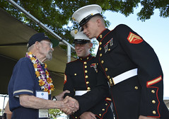 Marine Corps Sgt. Angel Toledo and Cpl. Kevin Shepherd