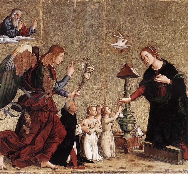 [ R ] Antoniazzo Romano - Annunciation (1485)