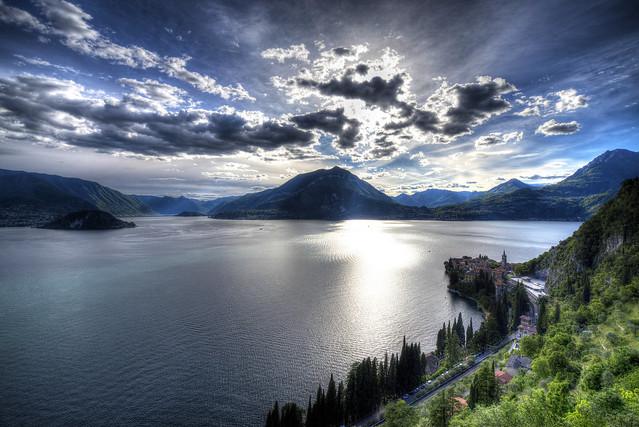 View of the Lake Como from Eremo Gaudio - Italia
