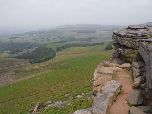 View from Stanage Edge SWC Walk 266 - Sheffield to Bamford (via Burbage Rocks and Stanage Edge) or to Moscar Lodge