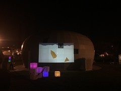 Projection at Maraya