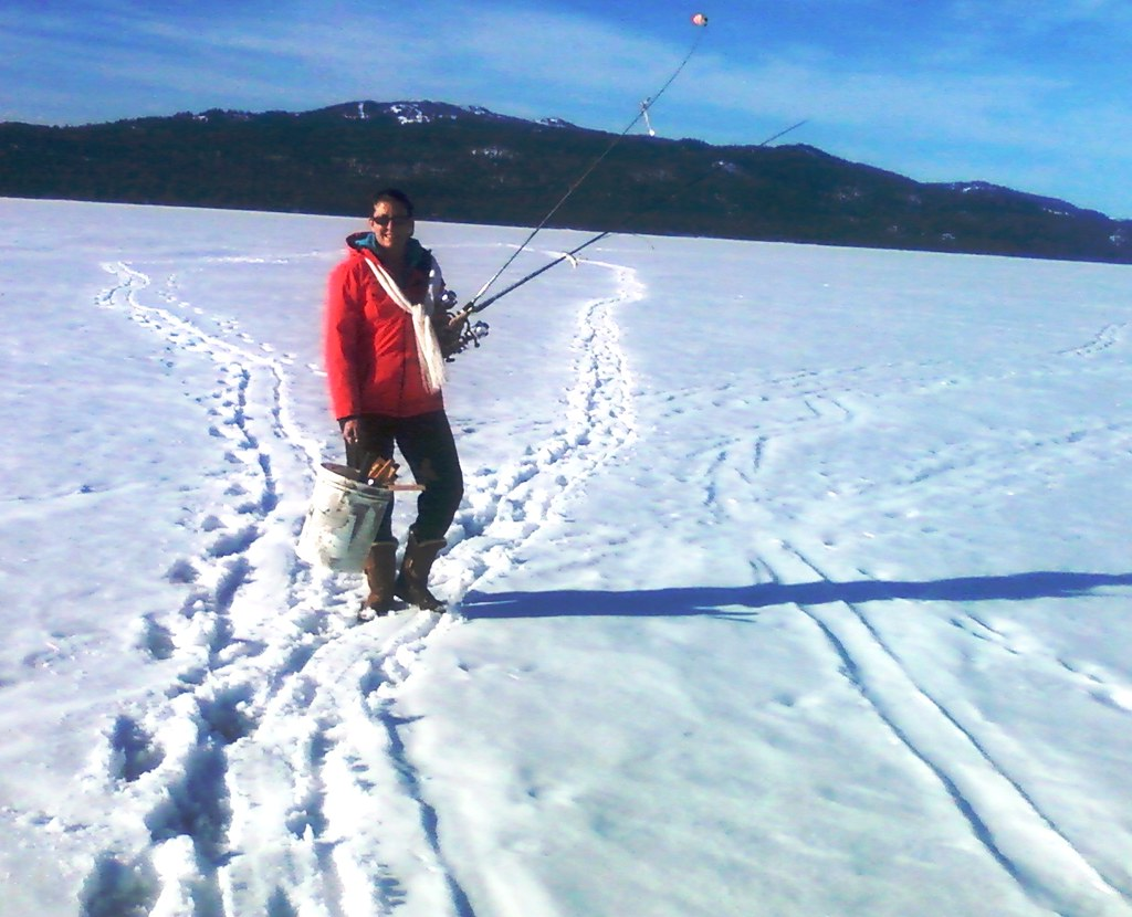 Ice Fishing on Payette Lake  Photo by Rob Brazie    Idaho