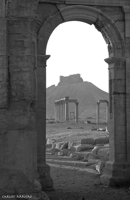 Palmira, Arch of Triumph (Siria, Syria) Recently destroyed.