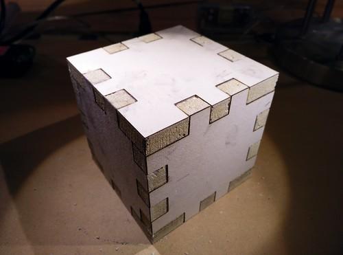 Laser cut drywall box