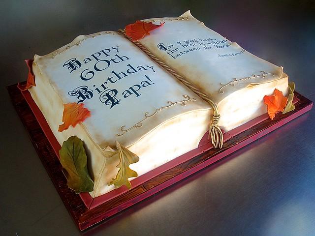 Sculpted Book Cake