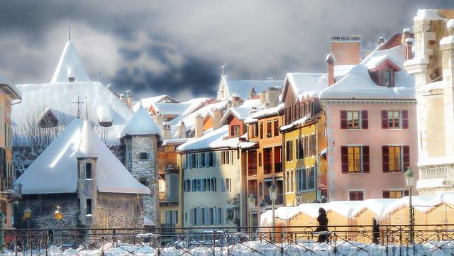 Annecy Vieille-Ville en hiver