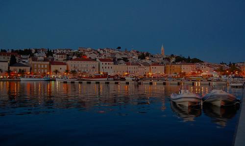 tramonto barche porto piccolo croazia specchio lussin dacqua