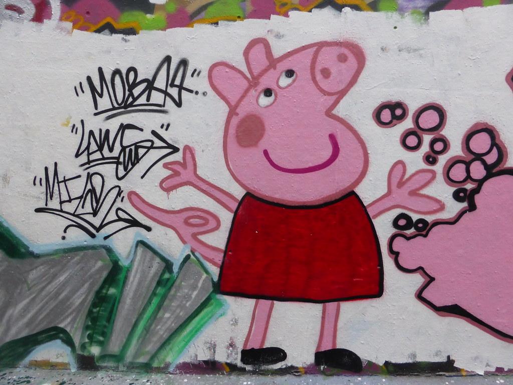 Peppa Pig Graffiti Leake Street Duncan C Flickr