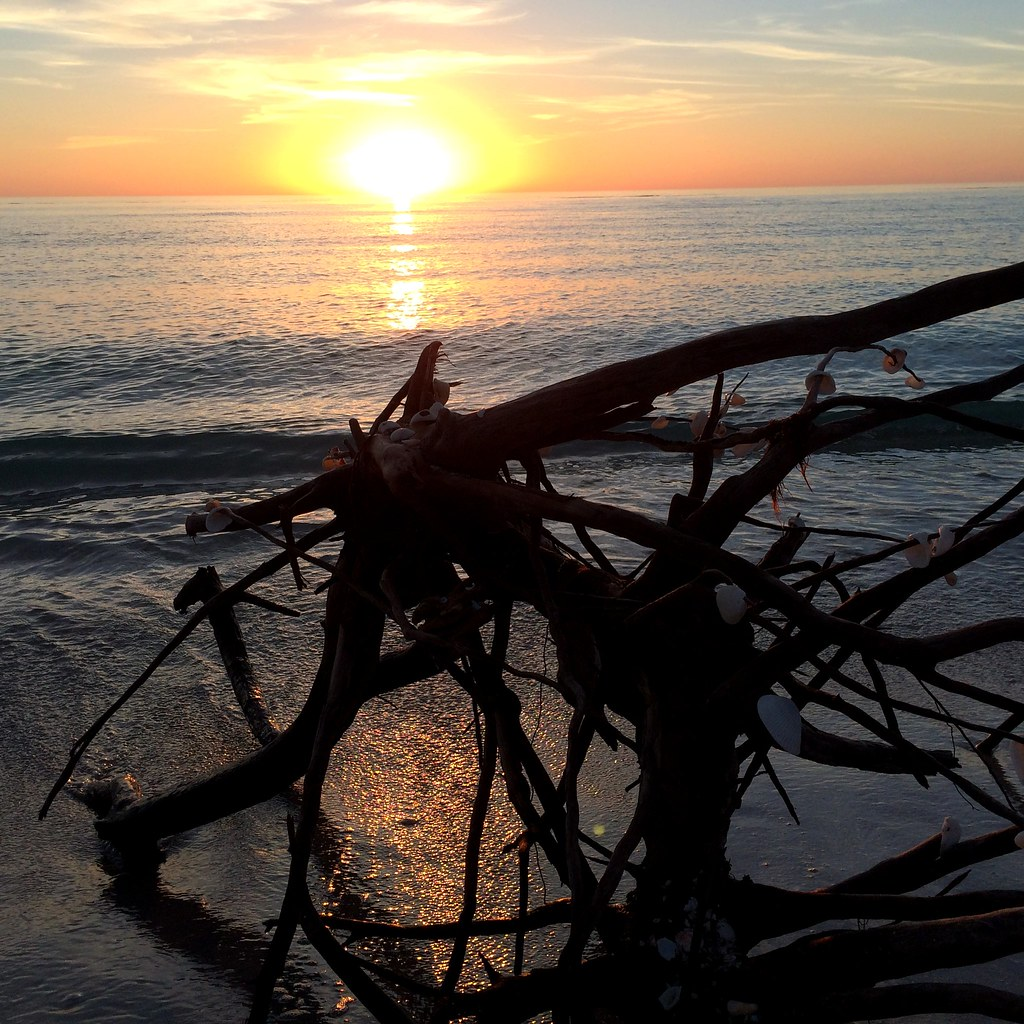 Sunset, Stump Pass Beach State Park, Manasota Key, Englewo ...