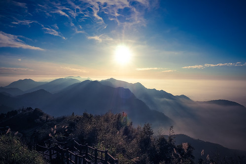 sunset ed taiwan olympus 夕陽 12mm chiayi 阿里山 嘉義 f20 隙頂 epl7