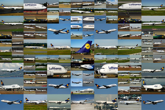 108 Lufthansa including all LH aircraft types. 8400*5600