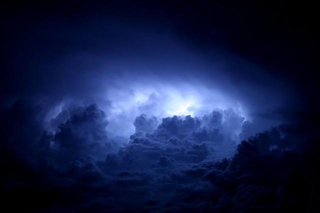 (blue) fire in the sky