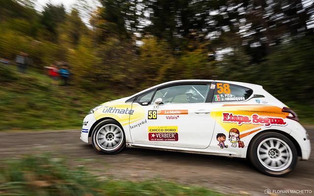 Peugeot 208 VTi R2 (Renato PITA / Jorge HENRIQUES) - 55ème Rallye International du Valais 2014