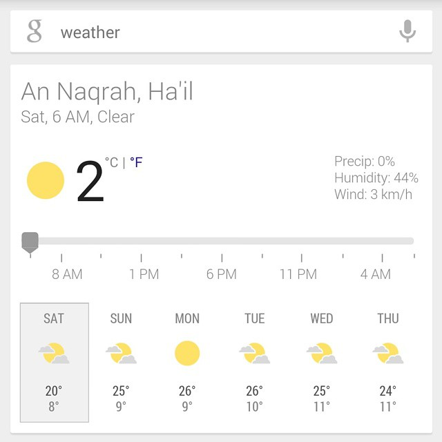 درجة الحرارة الان