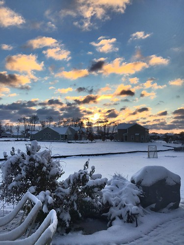morning winter ohio snow weather clouds sunrise maineville