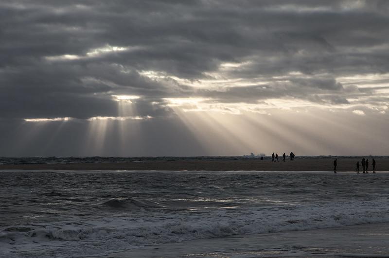 https://www.twin-loc.fr Sunset Coucher de soleil - Cap Ferret Bassin d'Arcachon Ocean Pecheur Fisherman Beach Plage Waves Vagues Water Eau - Picture Image Photography