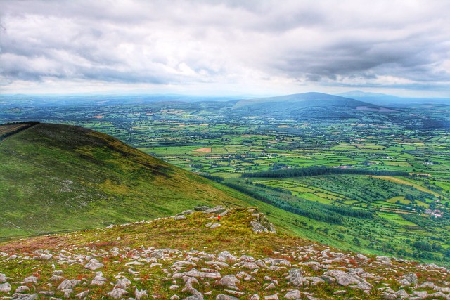 View from the Blackstairs mountains