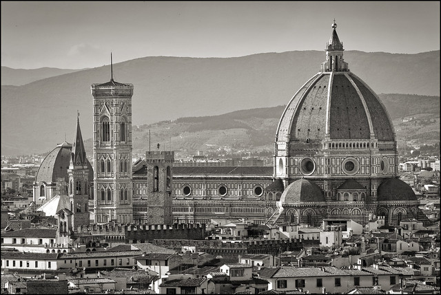 Italy - Florence - Cathedral from Piazzale Michelangelo 01 sepia_DSC8638