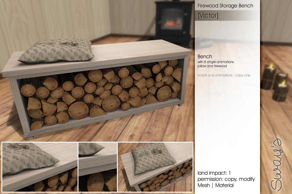 Peachy Sways Victor Firewood Storage Bench Flf More Details Dailytribune Chair Design For Home Dailytribuneorg