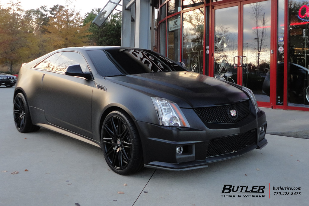 Matte Black Cadillac Cts