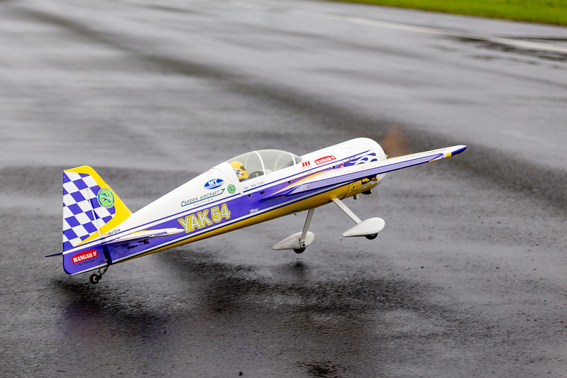 The wind catching Phil's Carden Yak on take off..