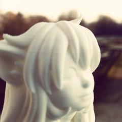 Teeko #3dprint ! Learn more on http://www.morenap.ca/teeko-3d-on-kickstarter/ #webcomic #comic #3dprinting #figurine #design #fantasy #ultimaker #pla
