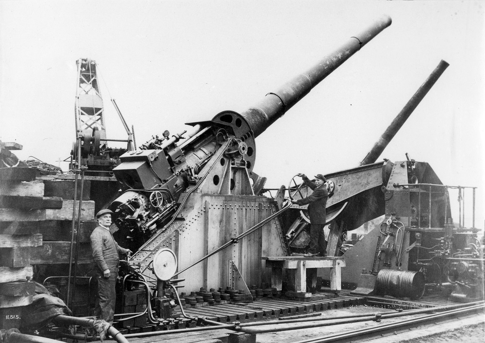 Testing guns at the firing range, Silloth