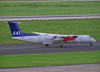 LN-RDK DeHavilland Canada DHC-8-400 of Scandinavian Airline System | by SteveDHall