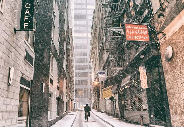 New York City - Snow - Financial District