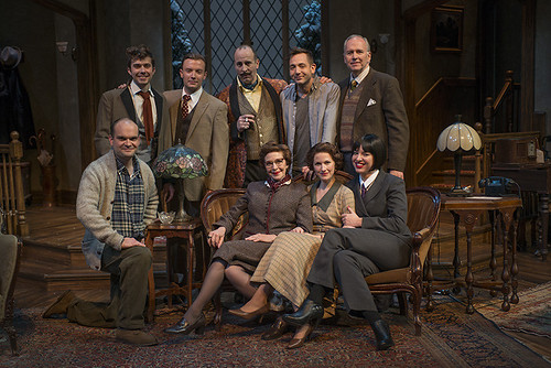 Director Jonathan Berry with The Mousetrap cast