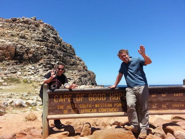 Con Paco Nadal en el Cabo de Buena Esperanza (Sudáfrica)