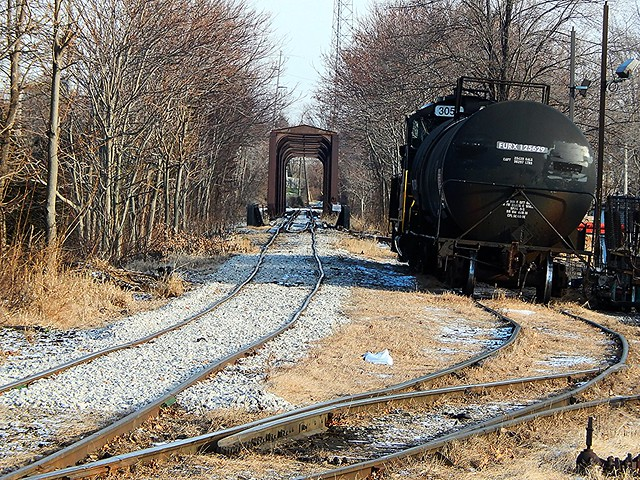 New ballast on the ND&W at Defiance Ohio