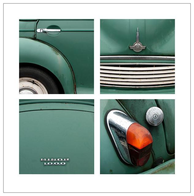 Morris Minor 1000 Car Quadriptych