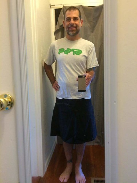 Skirtcraft Kickstarter backer wearing Unaligned Skirt