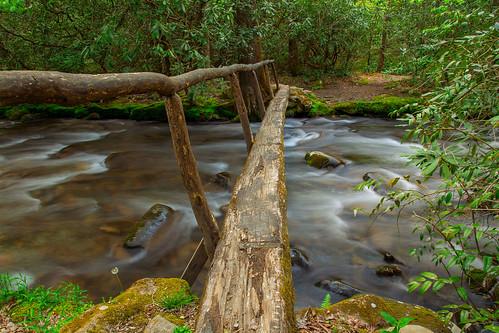 longexposure bridge nature water creek landscape stream hiking campground smokymountains naturetrail greatsmokymountainsnationalpark ndfilter smokemont bw10stopfilter 2016spring