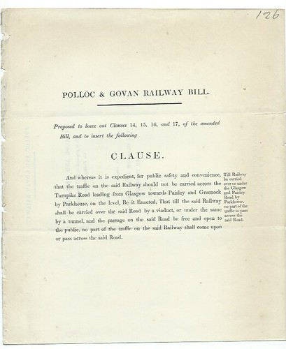 Polloc & Govan Railway amendment to the Bill undated | by ian.dinmore