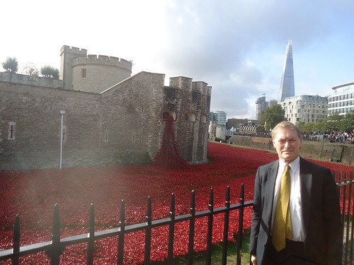 David Amess MP with the incredible poppies memorial at the Tower of London | by AmessD