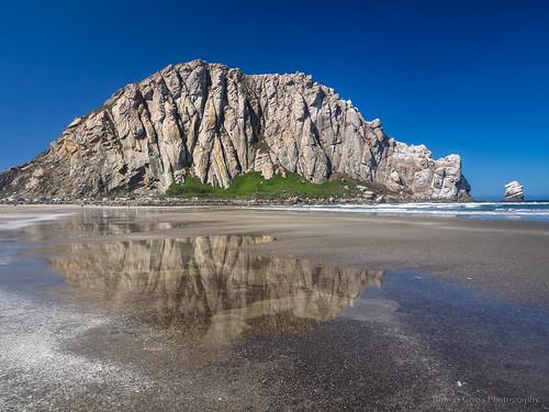 california ca seascape reflection beach landscape coast sand surf waves bluesky olympus pacificocean morrobay centralcoast morrorock omd em5 1250mmf3563mzuiko