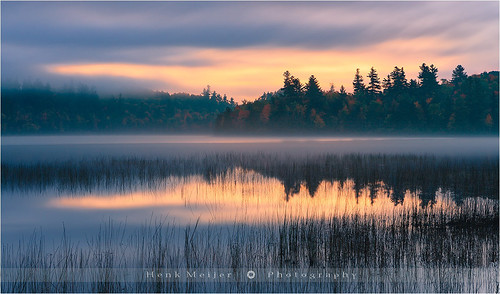 park morning autumn trees usa tree colors fog clouds canon landscape photography colorful colours unitedstates state glory newyorkstate colourful adirondack lakeplacid floydian leefilters connerypond canoneos1dsmarkiii henkmeijer