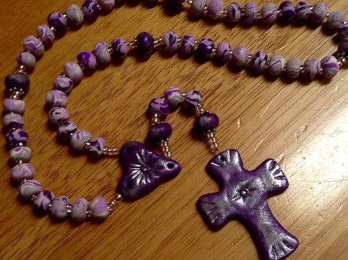 Handmade polymer clay rosary