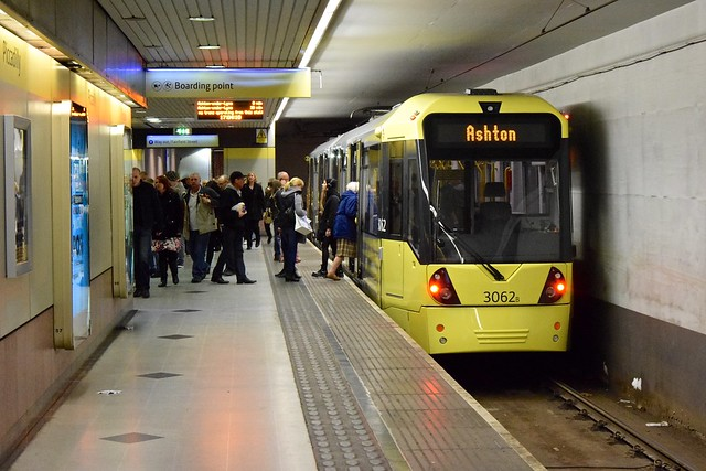 Piccadilly Eastbound. Manchester Metrolink